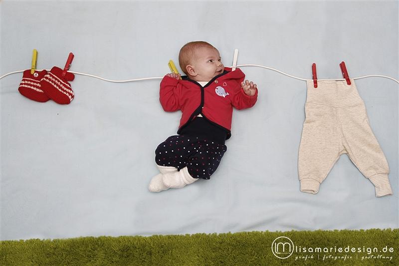 Babyfoto bei einem Homeshooting in Leipzig