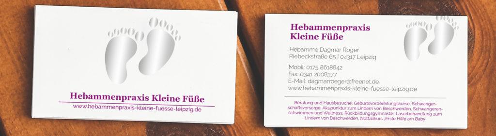 Print und Grafikdesign: Vorschau einer Visitenkarten