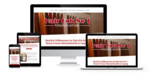 Responsives Webdesign eines Friseursalons