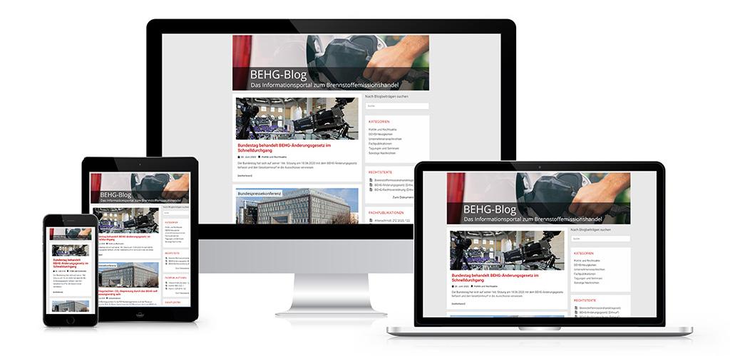 Webdesign für den BEHG-Blog – Dem Informationsportal zum Brennstoffemissionshandel