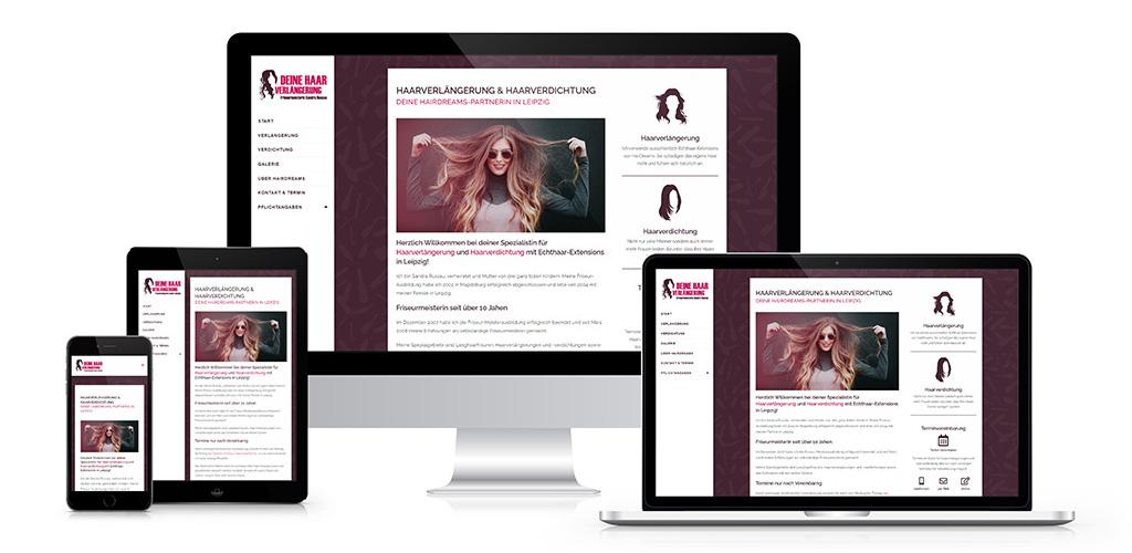 Webdesign für Deine Haarverlängerung