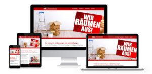 Webdesign der MG Dienstleistungen aus Leipzig