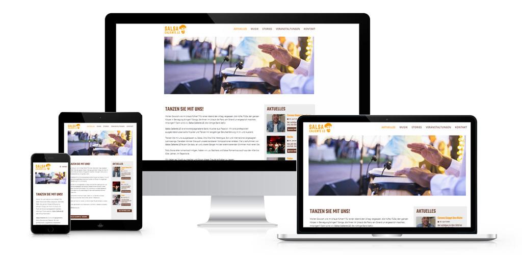 Webdesign für Salsa Caliente LE