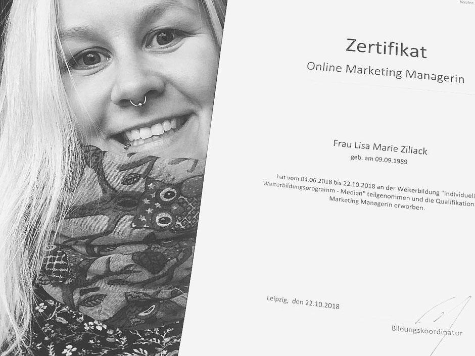 Seit Oktober 2018 bin ich Online Marketing Managerin