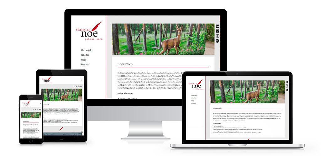 Webdesign für den Journalisten Christian Noe